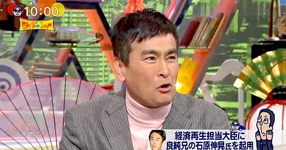ワイドナショー画像 松本人志の「経済金目大臣でしたっけ」に石原良純が立場的に「もう笑えない」 2016年1月31日