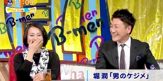 ワイドナショー画像 堀潤の「下の毛を剃った」という宣言に驚く杉田かおる 2016年2月7日