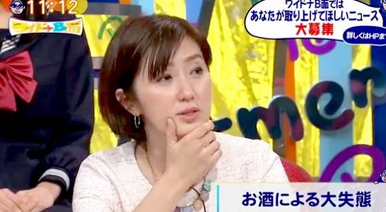 ワイドナショー画像 佐々木恭子アナウンサー「小倉智昭のイジメで本番中に吐いたとされた事件は実は二日酔いだった」と暴露 2016年2月7日