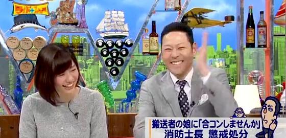 ワイドナショー画像 松本人志「合コンに燃えてきたーという消防士」 東野幸治「ダメですよ燃えちゃ」 2016年2月7日
