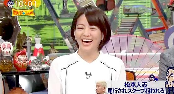ワイドナショー画像 赤江珠緒 写真誌に追い掛け回される松本人志に「怖いですねー」 2016年2月14日
