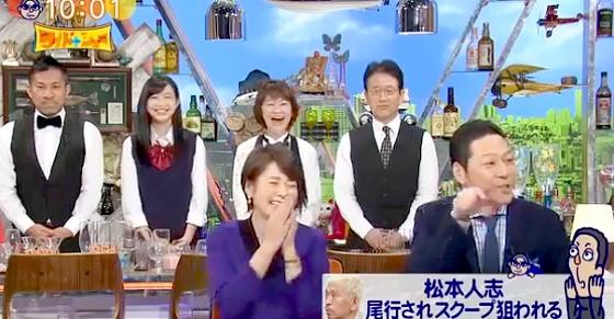 ワイドナショー画像 秋元優里アナ 東野幸治「ニュースになった発言をまた番組で取り上げる新しい自家発電」 2016年2月14日