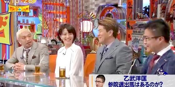 ワイドナショー画像 SPEED今井絵理子の参院選出馬表明を聞いて松本人志「乙武さんが狙ってるのは大臣」 2016年2月14日