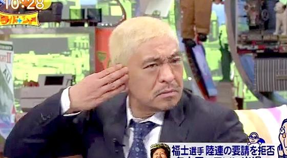 ワイドナショー画像 松野明美のあまりの早口ぶりに松本人志が「肝心なとこわかんない」 2016年2月28日