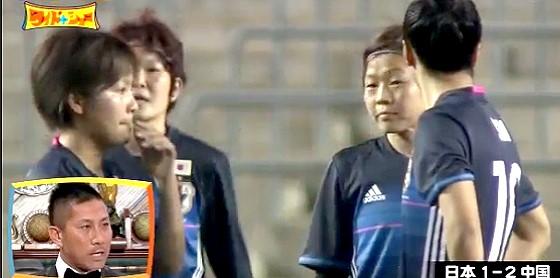 ワイドナショー画像 女子サッカー日本代表なでしこジャパンが失点して呆然 2016年3月6日