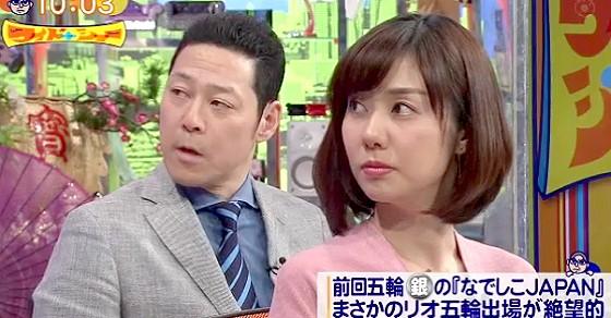 ワイドナショー画像 東野幸治 山崎夕貴アナ 前園真聖になでしこジャパンの敗因を聞く 2016年3月6日