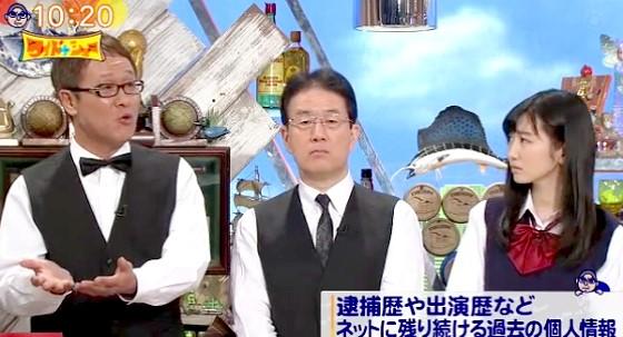 ワイドナショー画像 犬塚浩 岡本夏美 井上公造「何十年も前の逮捕歴がネット上に残り続けることもある」 2016年3月6日