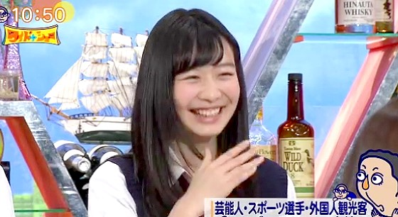 ワイドナショー画像 東野幸治の「ワイドナ女子高生はええとこの子で街のアバズレはいない」に笑う岡本夏美 2016年3月6日