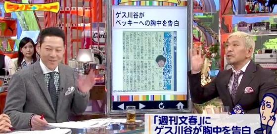 ワイドナショー画像 東野幸治 松本人志「平謝りに土下座することがファンの幻滅を誘うのでキャラは貫いた方が良い」 2016年3月20日