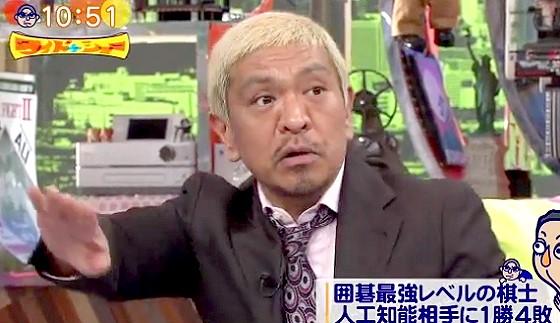 ワイドナショー画像 松本人志「ロボットが予測不能なバカな行動をしたらロボットが止めるかもしれない」 2016年3月20日