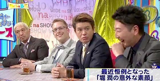 ワイドナショー画像 松本人志 厚切りジェイソン ヒロミ 堀潤「NHKの頃は仕事終わりで1人キャバクラだった」 2016年3月20日