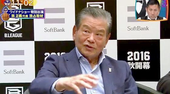 ワイドナショー画像 川淵三郎がBリーグに対する思いを語る 2016年3月20日