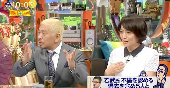 ワイドナショー画像 松本人志 赤江珠緒「不倫についてまわりが騒ぎすぎ」 2016年3月27日