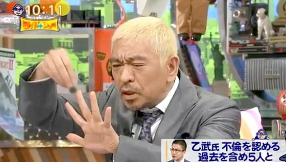 ワイドナショー画像 松本人志「乙武洋匡さんは様々な方向にエネルギッシュな人だが女性問題だけやめとというのはひどい」 2016年3月27日