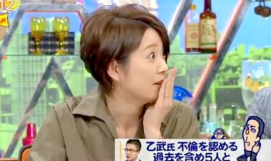 ワイドナショー画像 夫が不倫をしているという松本人志の指摘に秋元優里アナが目をむいて反論 2016年3月27日