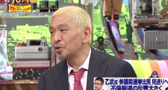 ワイドナショー画像 松本人志「乙武さんをかばったことでかなり叩かれた」 2016年4月3日