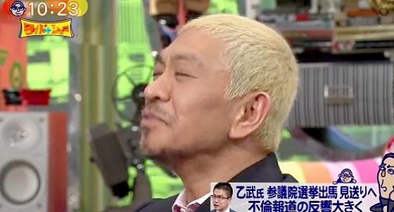ワイドナショー画像 キョトンとする青木珠菜に松本人志もうなずくしかない 2016年4月3日
