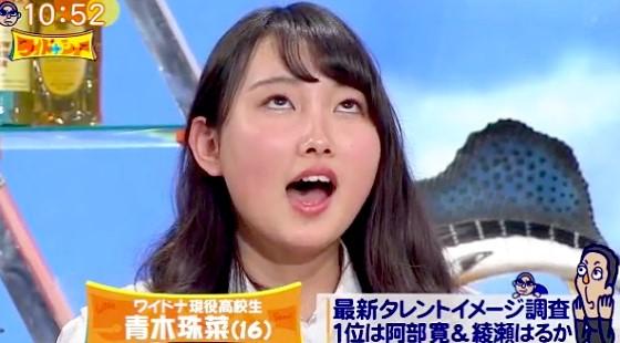 ワイドナショー画像 青木珠菜が必死に思い出そうとする顔をみて東野幸治が「アホ丸出しや」 2016年4月3日