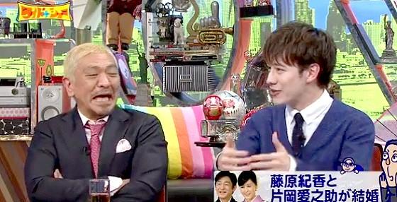 ワイドナショー画像 ウエンツ瑛士が松本人志と東野幸治にスキャンダルの元は自分たちだと指摘 2016年4月3日