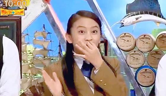 ワイドナショー画像 ワイドナ現役高校生の岡田結実が父親岡田圭右ゆずりの「ぎゅー」を披露 2016年4月10日