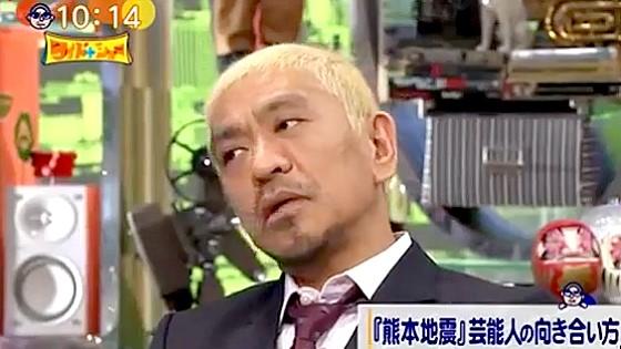 ワイドナショー画像 松本人志がネットで叩く人々に「もうこれ以上売名したくはないので」 2016年4月24日