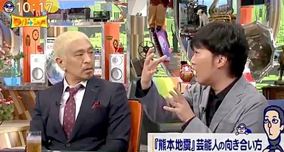 ワイドナショー画像 スピードワゴン小沢一敬「ネットで叩く人たちはマンガや映画の主人公から何を学んだのか」に松本人志も同調 2016年4月24日