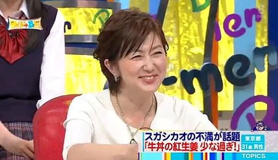 ワイドナショー画像 紅生姜は多い方がいいという松本人志に佐々木恭子アナが「タダのやつ」とケチ感をつける 2016年5月1日