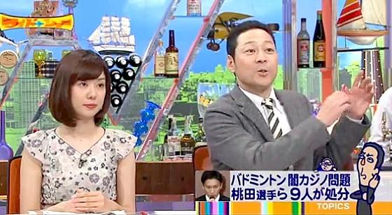 ワイドナショー画像 東野幸治「闇カジノ問題の桃田選手は反社会勢力に加担した結果となったが東京オリンピックに間に合う道は残されている」 2016年5月1日