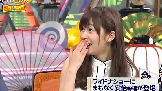 ワイドナショー画像 安倍晋三首相の出演を控えた松本人志が娘の風邪をうつさないように家に帰らなかった話を聞いて指原莉乃が驚きの表情 2016年5月1日