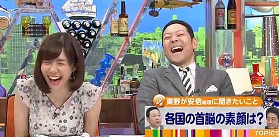 ワイドナショー画像 松本人志の「大統領は誰に?」に絶句する安倍首相に東野幸治が大笑い 2016年5月1日