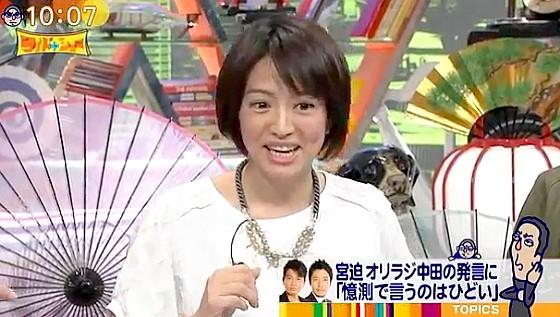 ワイドナショー画像 赤江珠緒がベッキー騒動の場外乱闘のコメントを求められ「私は専門家じゃない」 2016年5月8日