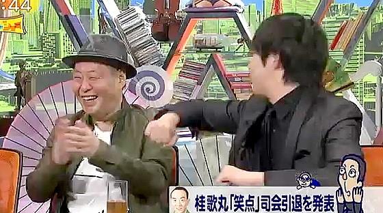 ワイドナショー画像 アドリブに困ったウーマンラッシュアワー村本大輔に泉谷しげるが大喜び 小突く村本 2016年5月8日