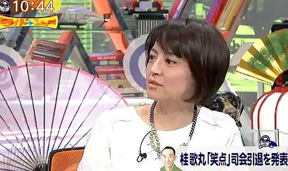 ワイドナショー画像 赤江珠緒「笑点の司会を降板した桂歌丸さんの引退は寂しい限り」 2016年5月8日