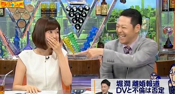 ワイドナショー画像 堀潤のオチが寒い感じになり山崎夕貴の表情に現れる 2016年5月15日