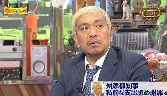 ワイドナショー画像 松本人志が舛添都知事に「周りの人が口出しできなくなったハゲの王様」 2016年5月15日