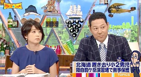 ワイドナショー画像 秋元優里アナ 東野幸治が男児置き去りの父親が嘘をついたことを赤江珠緒に指摘 2016年6月5日