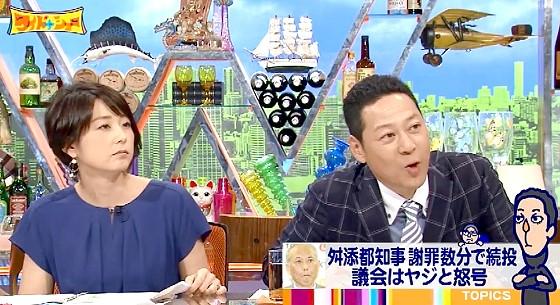 ワイドナショー画像 秋元優里アナ 東野幸治がトレンディデビルの称号を得た舛添都知事の問題を紹介 2016年6月5日