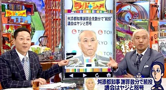 ワイドナショー画像 東野幸治 松本人志が金に執着するイメージの舛添都知事にトレンディデビルの称号を与える 2016年6月5日