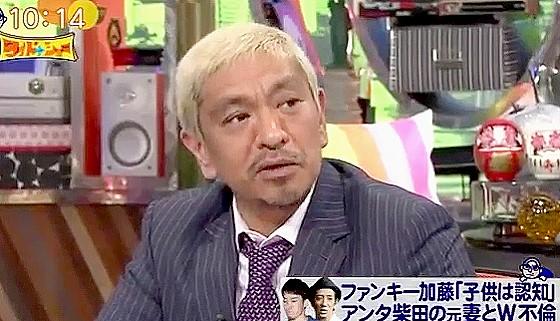 ワイドナショー画像 松本人志「不倫問題のファンキー加藤の新曲がブラザーなのはキツい」 2016年6月12日