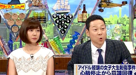 ワイドナショー画像 東野幸治 ファンに刺されたアイドルの事件に対し自警団ボランティアを提案したヒロミに賛同 2016年6月12日