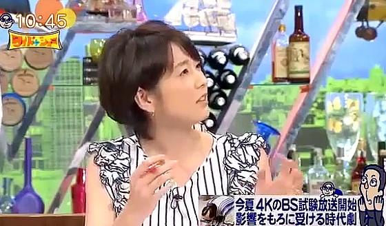 ワイドナショー画像 秋元優里アナ「4Kになって映りが鮮明になっても気にしない」 2016年6月19日