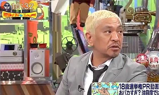 ワイドナショー画像 松本人志「次の次の選挙の注目したいがその頃にはもうぺこ&りゅうちぇるはいない」 2016年6月19日