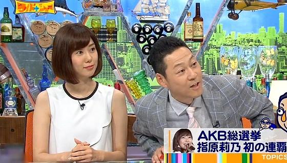 ワイドナショー画像 AKB総選挙の上位以外はわからない東野幸治 2016年6月26日