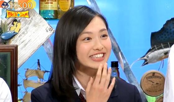 ワイドナショー画像 ワイドナ現役高校生の北村優衣が松本人志にメイクが濃いと言われ驚きの表情 2016年6月26日