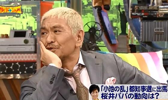 ワイドナショー画像 小池百合子に寄付した業界を指摘した堀潤に松本人志が「ちょっと足を引っ張ってる」 2016年7月3日