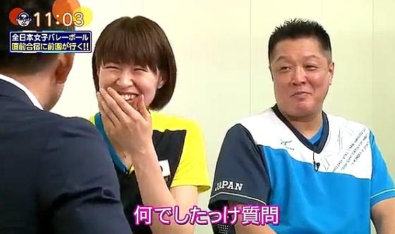 ワイドナショー画像 インタビューに答えている間に質問の内容を忘れてしまう全日本女子バレーボール木村沙織選手 2016年7月17日