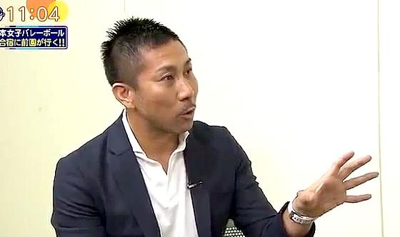 ワイドナショー画像 全日本女子バレーボール眞鍋監督と木村沙織にインタビューをする前園真聖 2016年7月17日