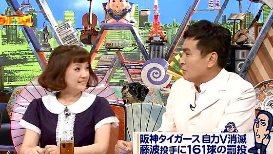 ワイドナショー画像 阪神タイガース金本監督を擁護する千秋に対し石原良純が「ちょっとしたことじゃない」と反論 2016年7月17日