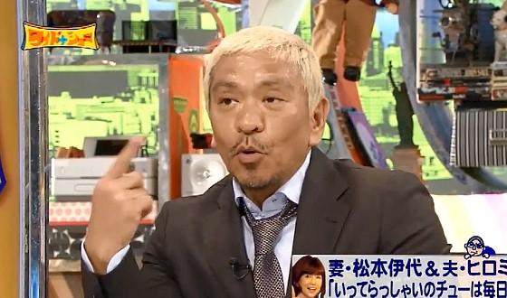 ワイドナショー画像 秋元優里アナが夫婦生活に関する質問をして松本人志が「この汗尋常じゃない」 2016年7月31日