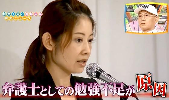 ワイドナショー画像 大渕愛子弁護士が法テラス以外の請求を不当に要求したとして東京弁護士会から業務停止1ヵ月の懲戒処分 2016年8月7日